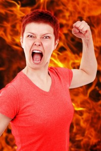 la colère en action
